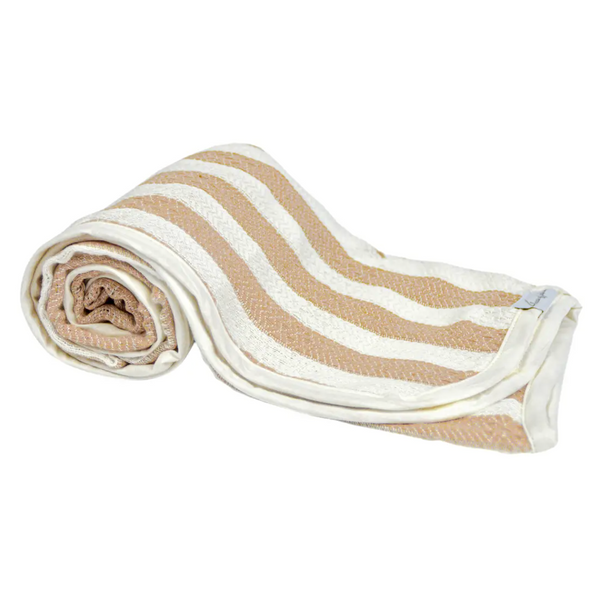 hooded baby turkish towel | fawn