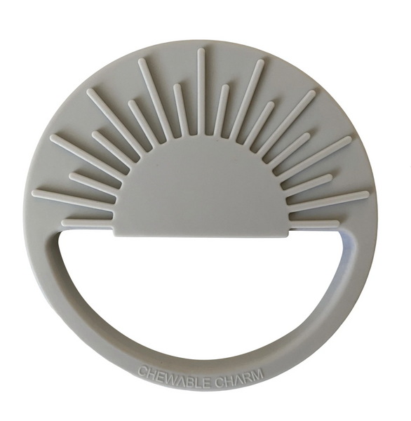 sun silicone teether | gray