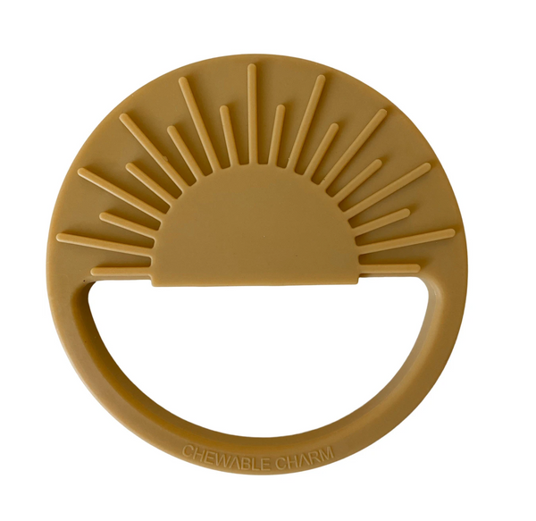 sun silicone teether | mustard