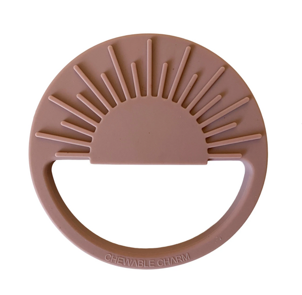 sun silicone teether | rose