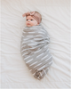 muslin swaddle | gray dash