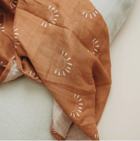 muslin swaddle | sundown