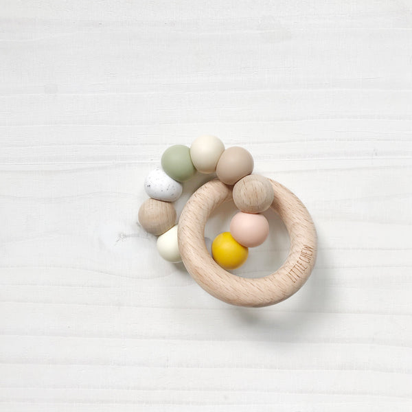 silicone & wood ring toy - melody