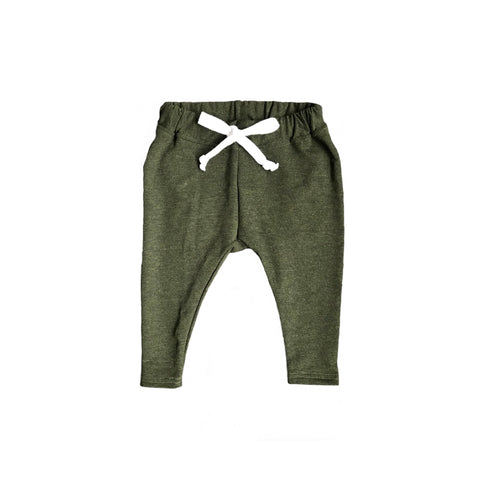 trousers - forest green
