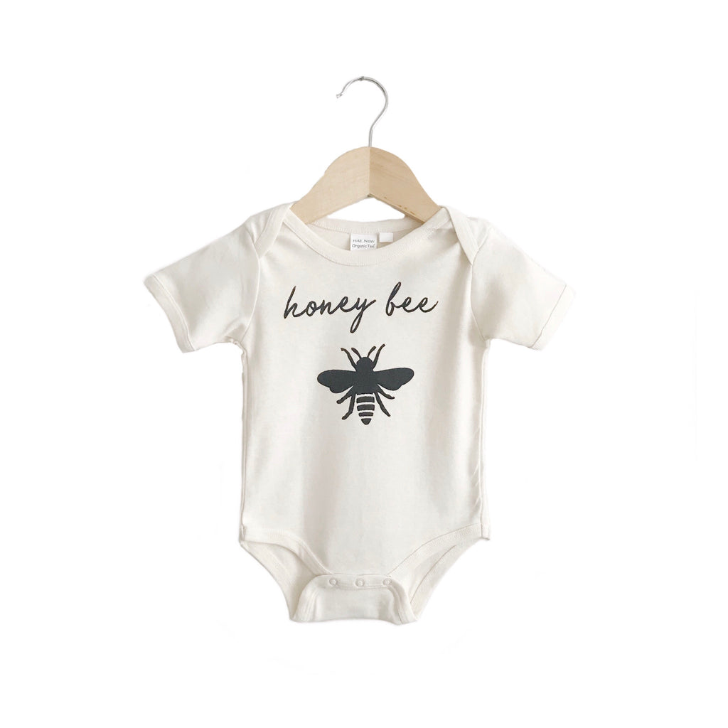 organic body suit/toddler tee | honey bee