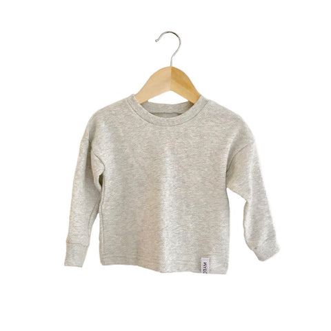 drop sleeve sweater | heather gray