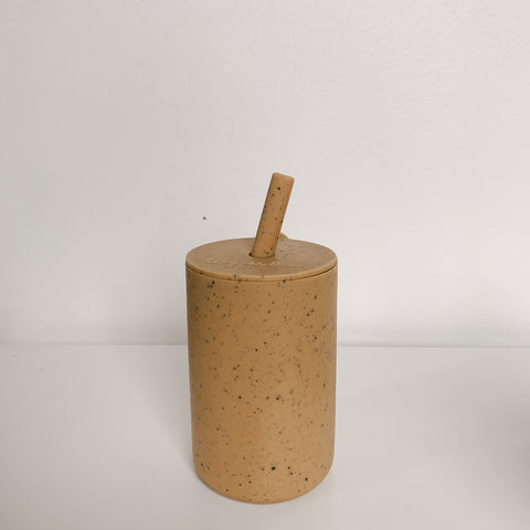 silicone cup | oak speckled