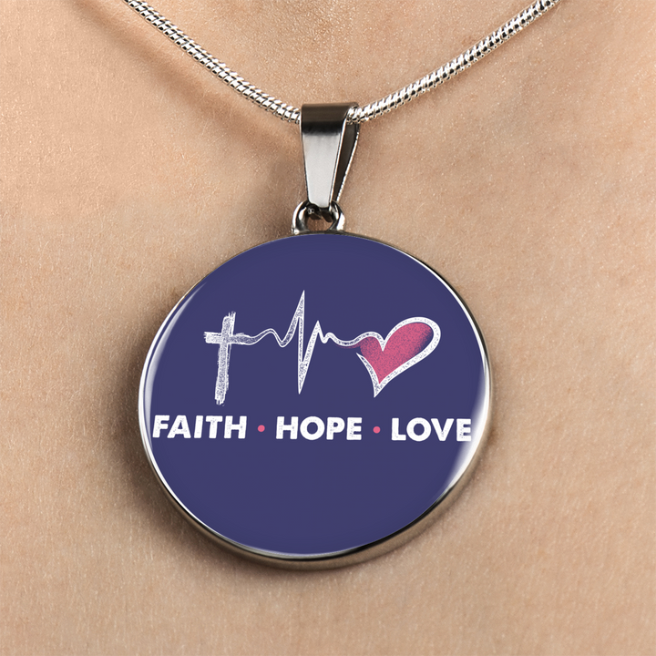 Faith Hope Love Luxury Necklace