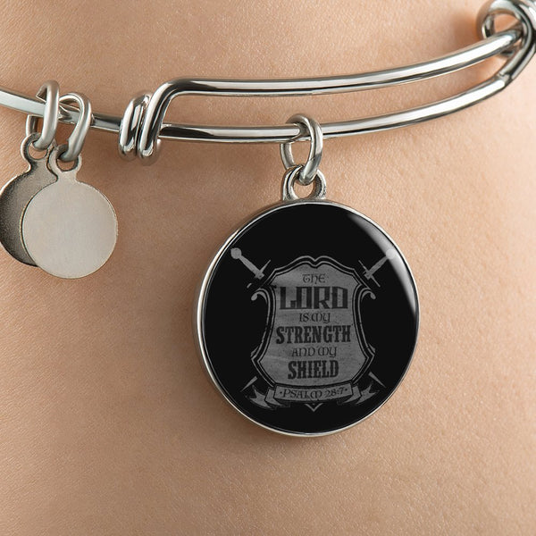 The Lord is My Strength Bangle Bracelet