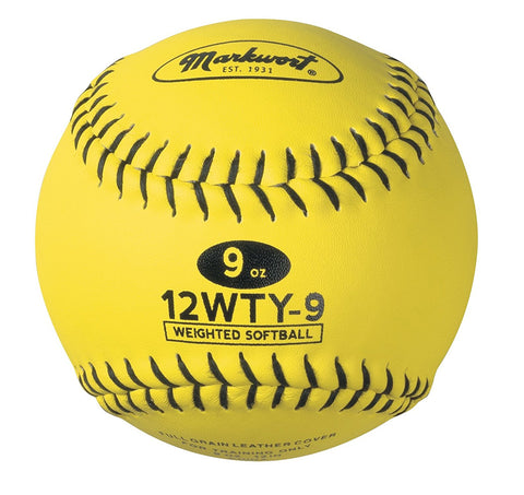 "Weighted Optic Yellow 12"" Training Softball"