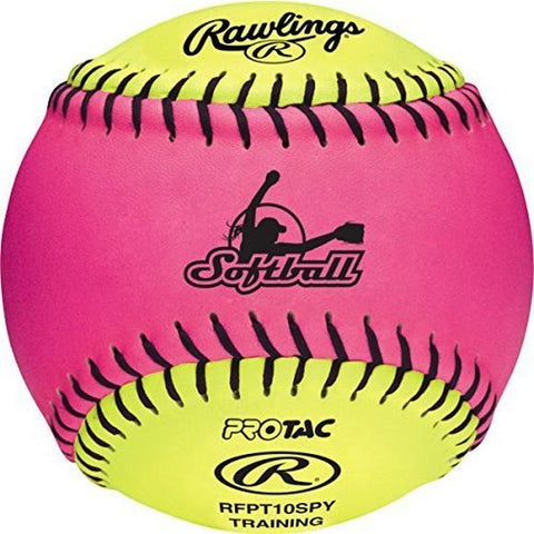 "Rawlings RFPT10SPY 10"" Optic Pink/Yellow FPEX Training Ball"