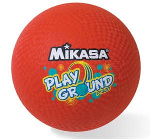 "Mikasa 13"" Red Rubber Ball"
