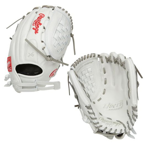 "Rawlings 12"" Liberty Adv White Grey Fielders Glove"