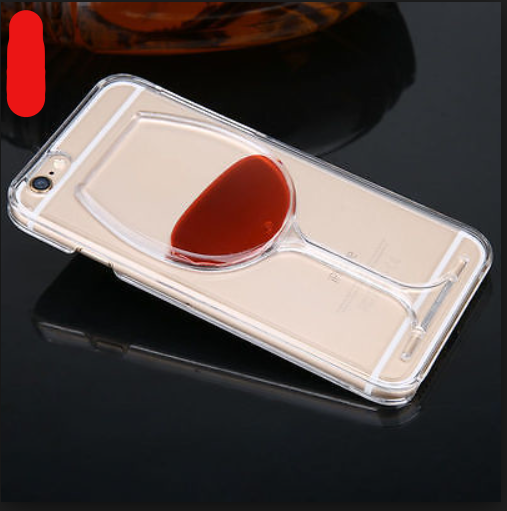 Red Wine Transparent iPhone Case Hard PC Back Cover