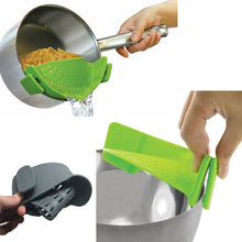NEW!! Silicone Anti spill Rice,Fruit,Vegetable Wash Colanders, Kitchen Pan Strainer Clip on Pasta for Draining Liquid
