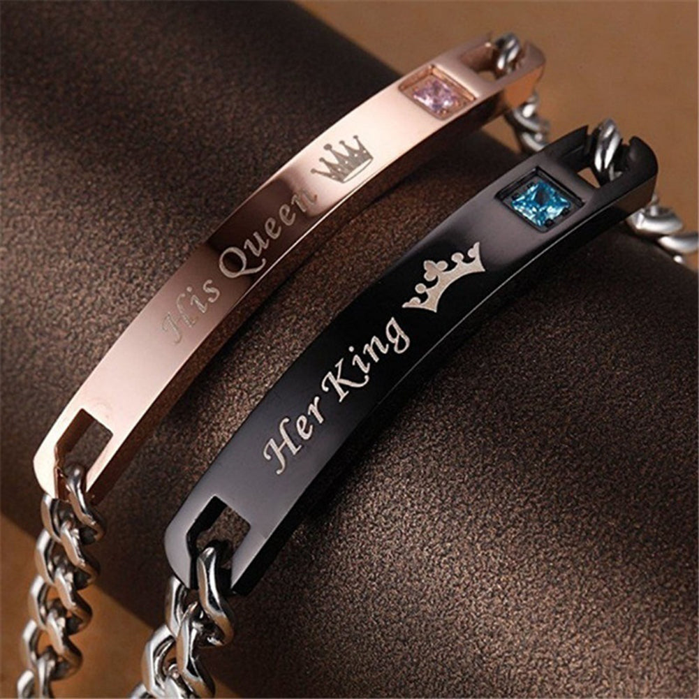 Romantic Her King His Queen Couples Bracelet