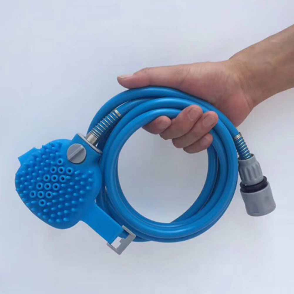 Pet Bathing Tool | Shower Sprayer and Scrubber in-One, Outdoor Garden Hose For Dogs, Cats, and Horses