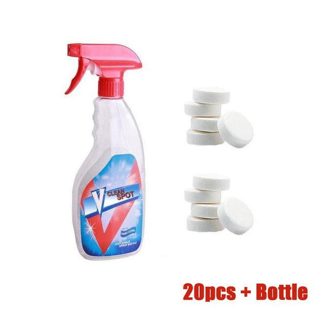Multifunctional Effervescent Spray Cleaner Set 20 pcs with Bottle