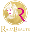 Rada Beaute logo. Selling Luxury beauty products like lashes, extensions, styling products and tools.