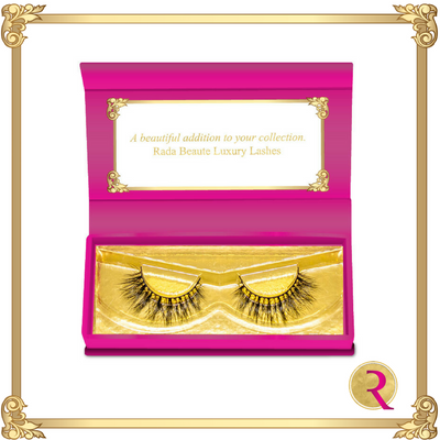 Rada Signature Mink Lashes box open view. Buy now at Rada Beaute.