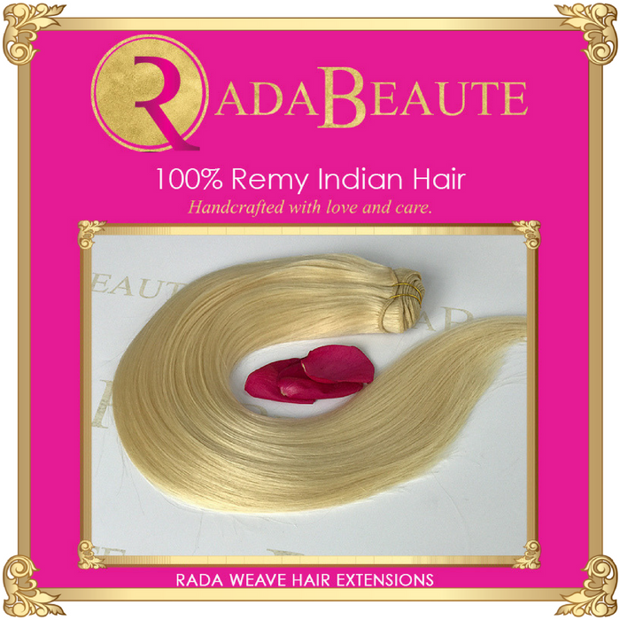 Butterscotch Blonde Weave  Extensions. Buy now at Rada Beaute.