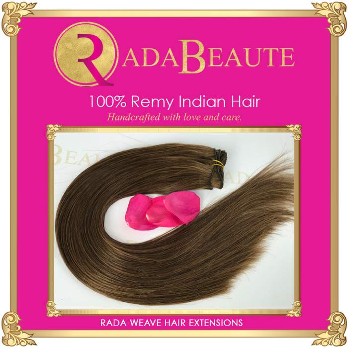Maple weave extensions. Buy your hair extensions at Rada Beaute.