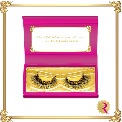 Picasso Mink Lashes box open view. Buy now at Rada Beaute