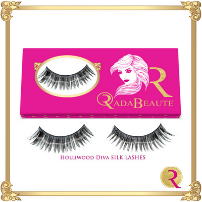 Hollywood Diva Silk Lashes box view. Buy your silk lashes at Rada Beaute now!