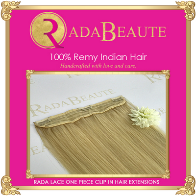 Butterscotch Blonde Lace in Extensions. Buy now at Rada Beaute.