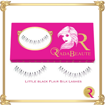 Little Black Flaire Silk lashes box view. Buy now at Rada Beaute.