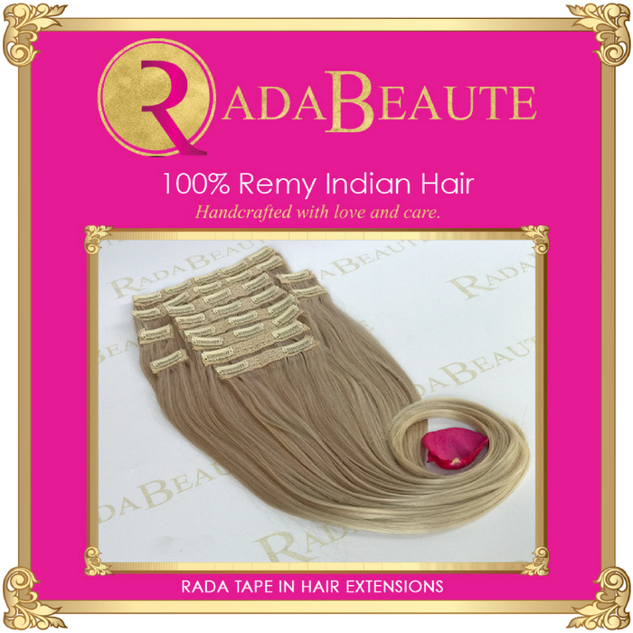 Snow White Clip in extensions. Buy now at Rada Beaute.