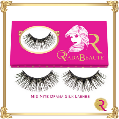 Mid Nite Silk Lashes box view. Buy now at Rada Beaute!