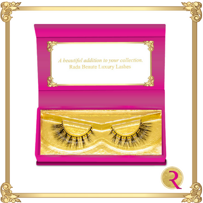 Bridal Beaute Mink Lashes box open view. Buy now at Rada Beaute.