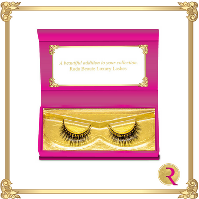 Sulit Mink Lashes box open view. Buy now at Rada Beaute.