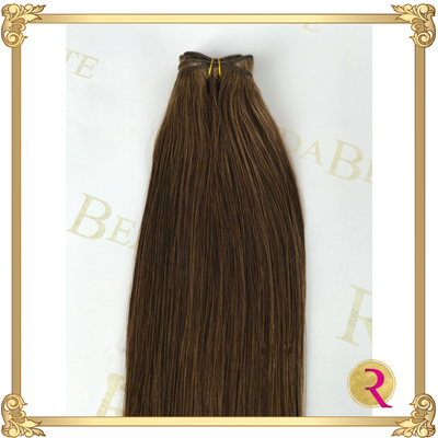 Melted Mocha Weave extensions top view. Buy now at Rada Beaute