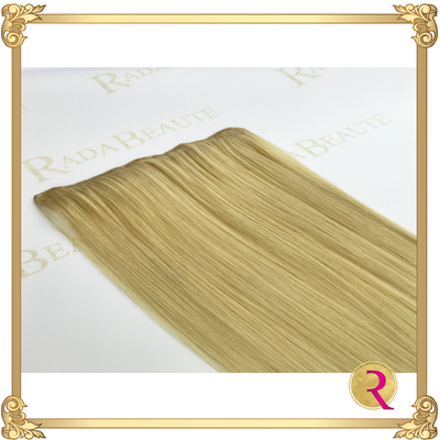 Butterscotch Blonde Lace in Extensions close up. Buy now at Rada Beaute.