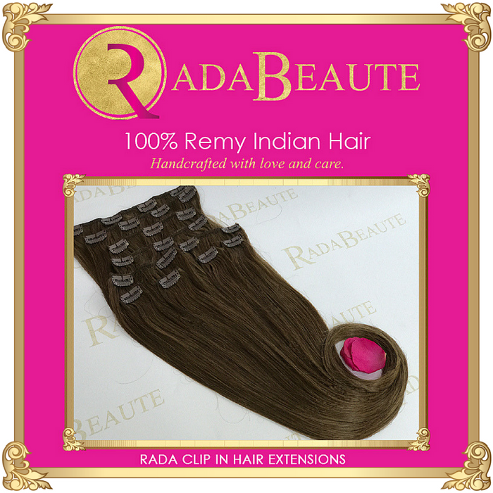 Decadent Chocolate Clip in extensions. Buy now at Rada Beaute