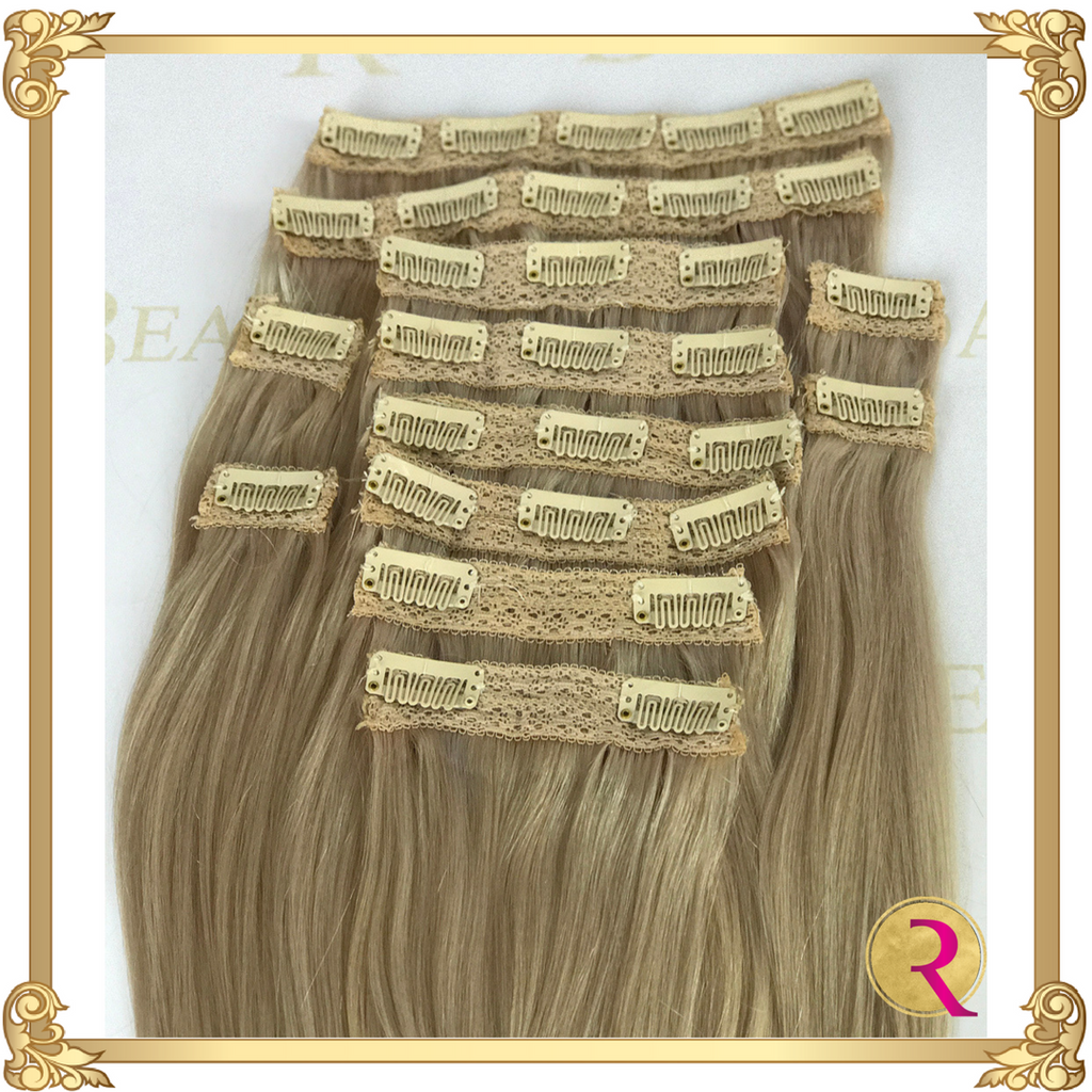 Snow White Clip in extensions top view. Buy now at Rada Beaute.