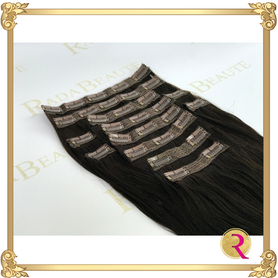 Midnight Diva Clip in Extensions side view. Buy now at Rada Beaute.
