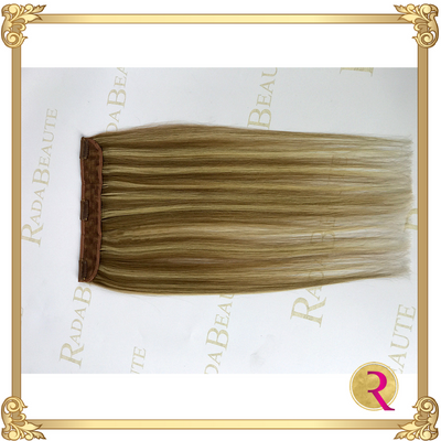 Maple Blonde lace in hair extension side view. Buy now at Rada Beaute.