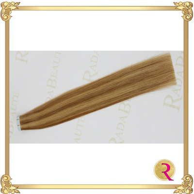 Maple Blonde Tape in extension side view. Buy now at Rada Beaute.