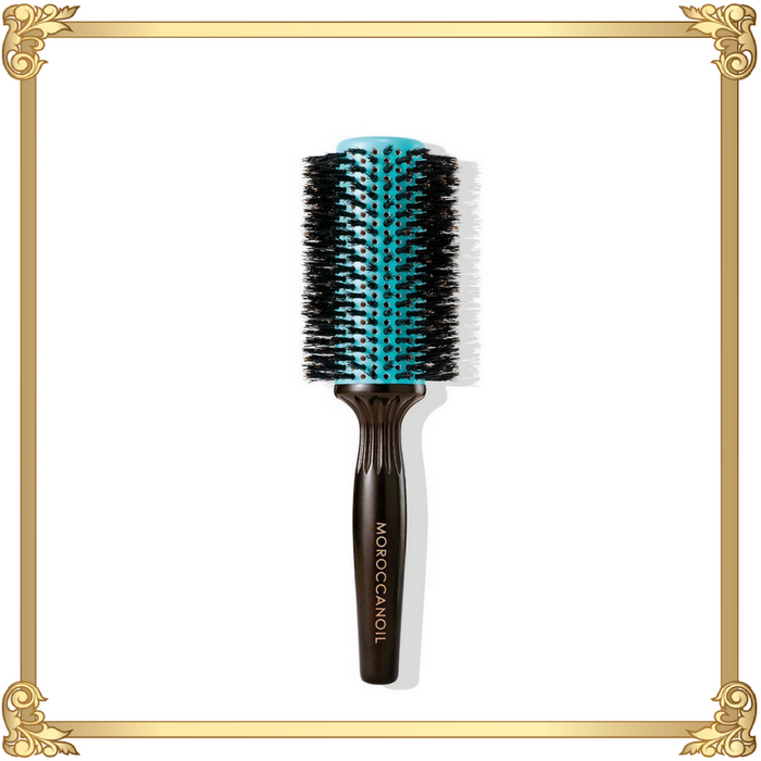 The Moroccanoil® Boar Bristle Round Brush is perfect for dry coarse hair and natural boar bristle brushes bring promote healthy, beautiful hair.