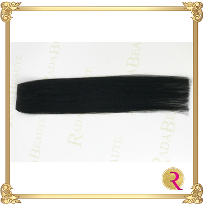 Midnight Diva weave extensions full side view 2. Buy now at Rada Beaute.