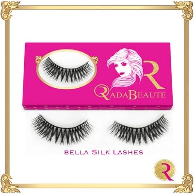 Bella Silk Lashes box view. Buy your Rada Beaute Silk Lashes now!