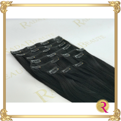 Dark Romance Clip in Extensions, side view. Buy now at Rada Beaute.