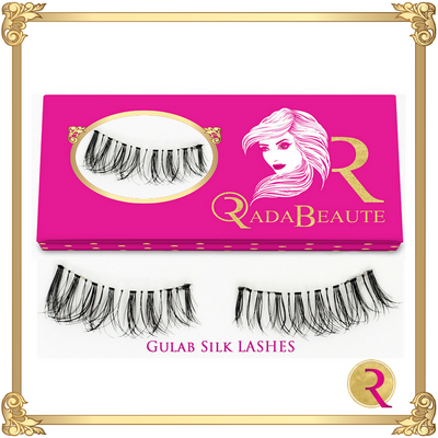 Gulab Silk Lashes box view. Buy your Rada Beaute Silk Lashes now!