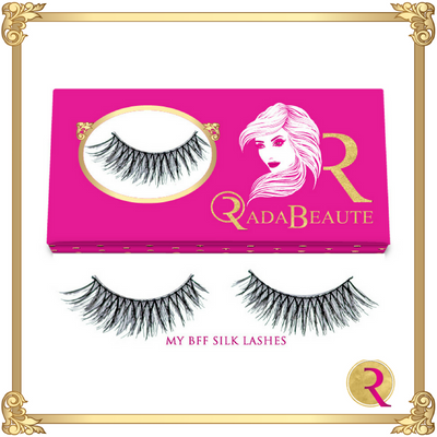 My BFF Silk Lashes box view. Buy now at Rada Beaute.