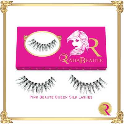 Pink Beaute Queen Silk Lashes, box view. Buy your Rada Beaute Silk lashes now!