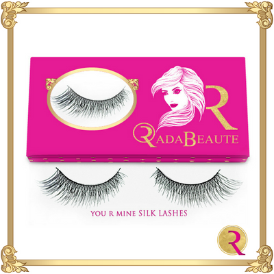 You R Mine Silk Lashes box view. Buy your silk lashes now at Rada Beaute.