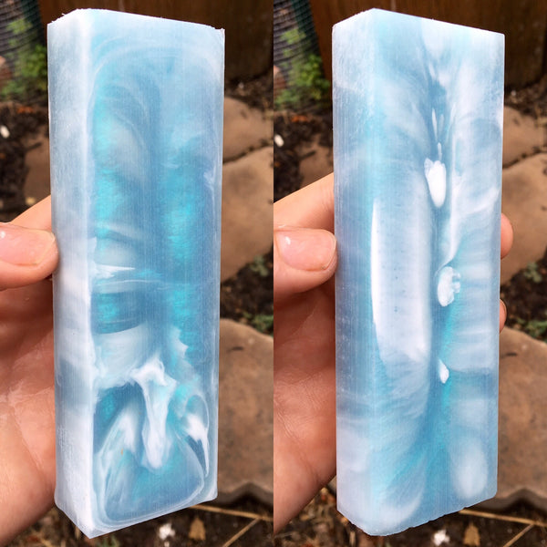 Turquoise Ice Resin Blank